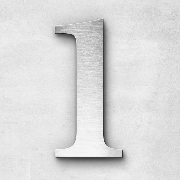House Number 1 Stainless Steel Serif Series