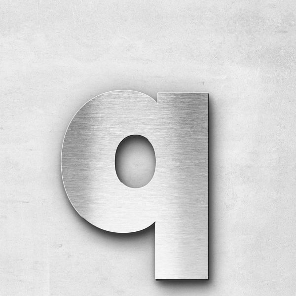 Metal Letter q Lowercase - Kontrast Series