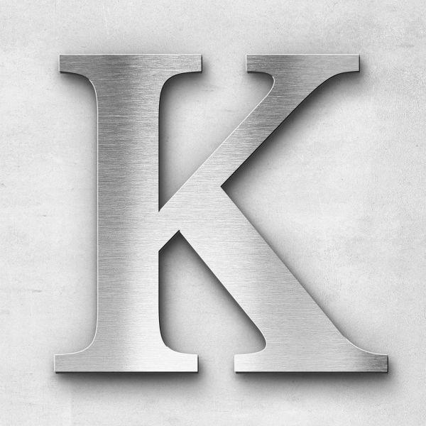 Metal Letter K Uppercase - Serif Series