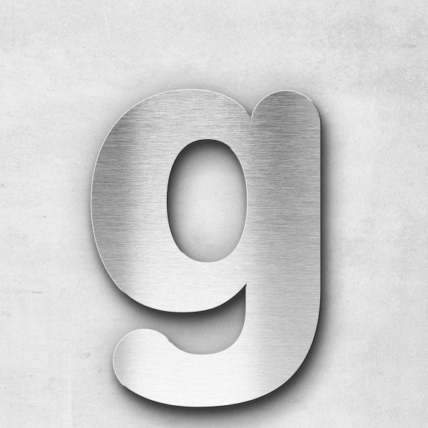Metal Letter g Lowercase - Classic Series