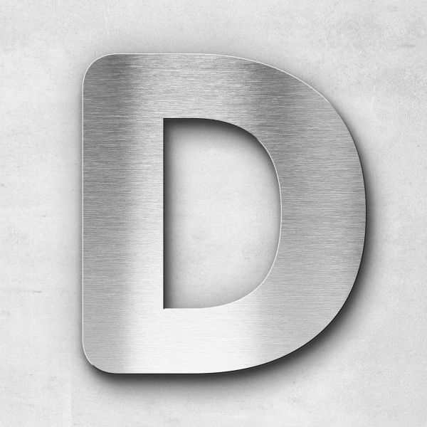 Metal Letter D Uppercase - Classic Series