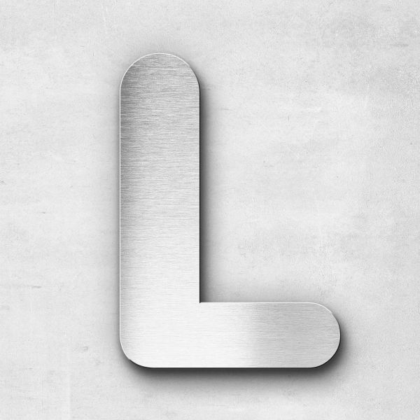 Metal Letter L Uppercase - Classic Series