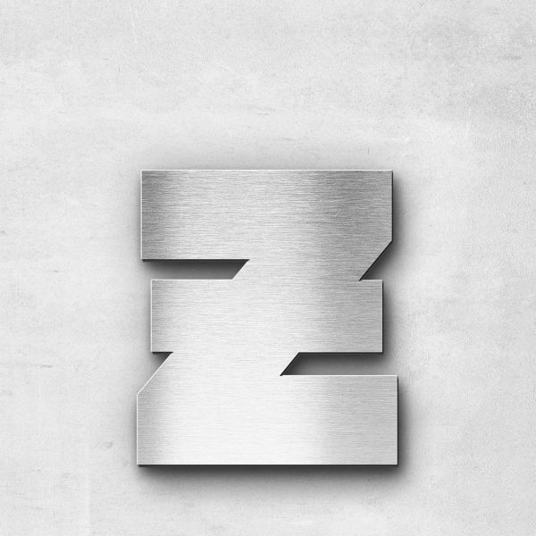 Metal Letter z Lowercase - Kontrast Series