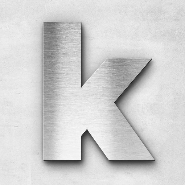 Metal Letter k Lowercase - Kontrast Series