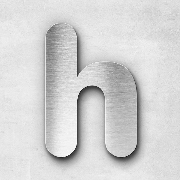 Metal Letter h Lowercase - Classic Series