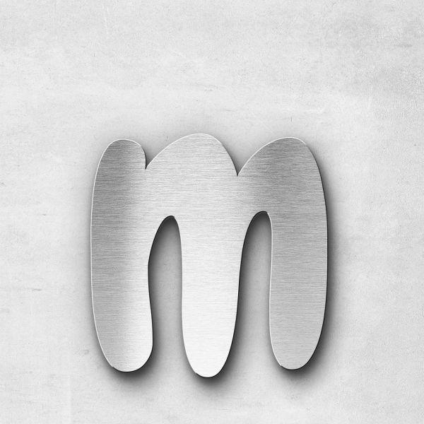 Metal Letter m Lowercase - Darius Series