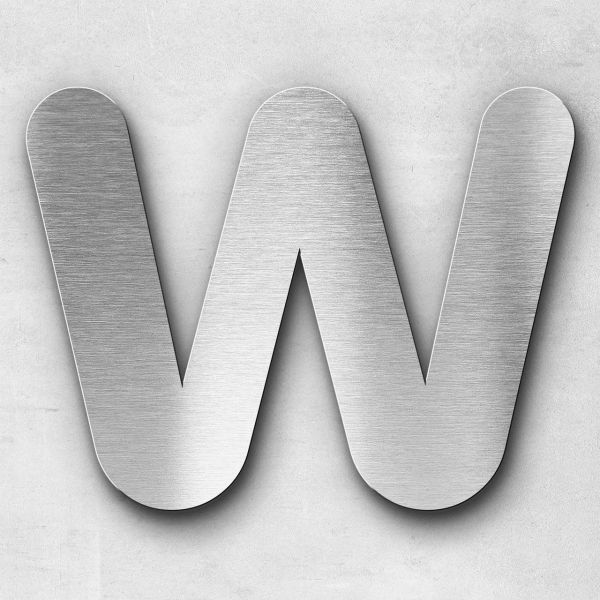 Metal Letter W Uppercase - Classic Series