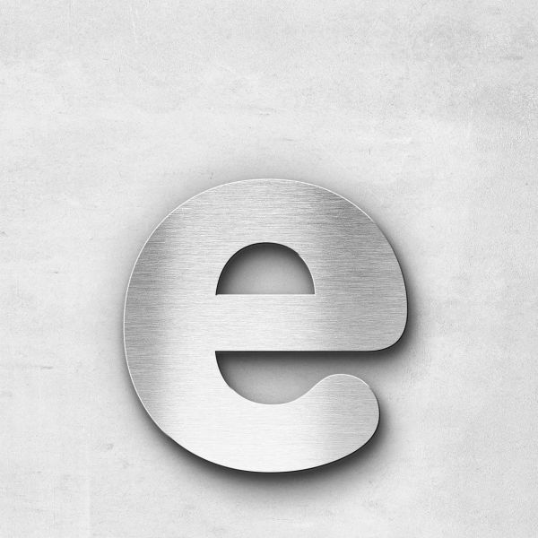 Metal Letter e Lowercase - Classic Series