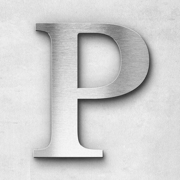 Metal Letter P Uppercase - Serif Series