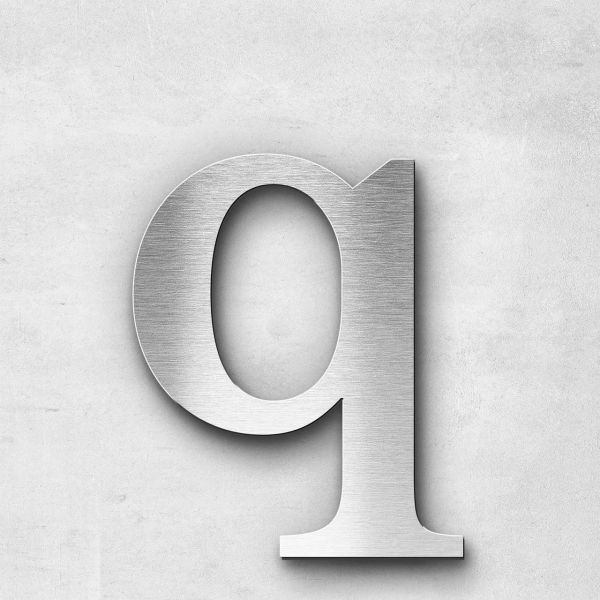 Metal Letter q Lowercase - Serif Series