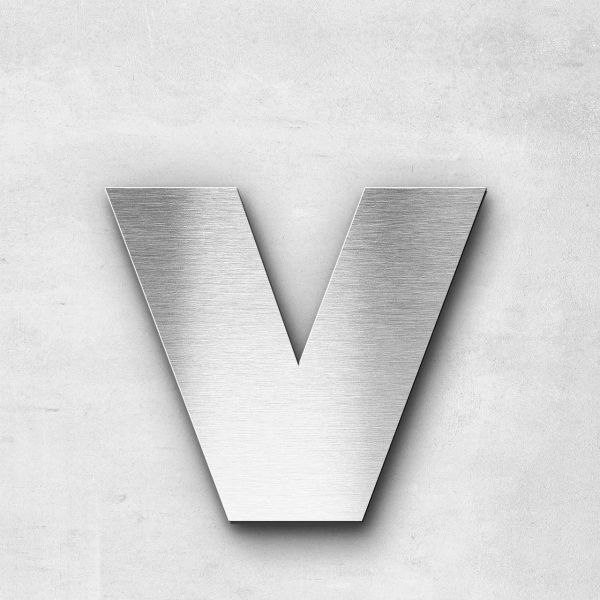 Metal Letter v Lowercase - Kontrast Series