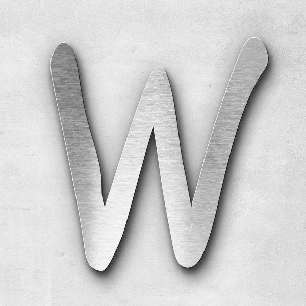 Metal Letter W Uppercase - Malta Series