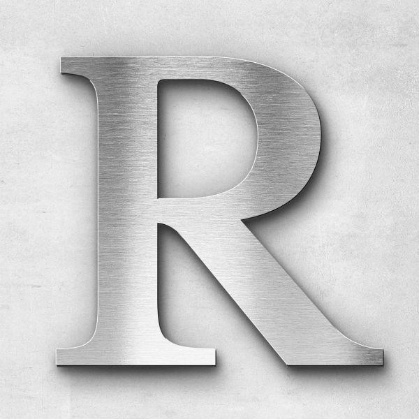 Metal Letter R Uppercase - Serif Series