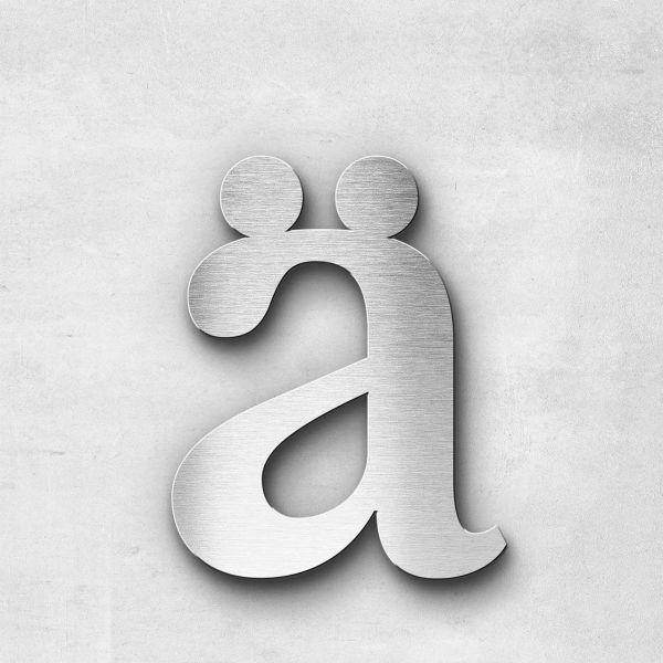 Metal Letter ä Lowercase - Serif Series