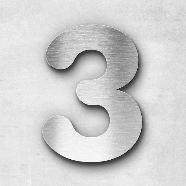 House Number 3 Stainless Steel Classic Series