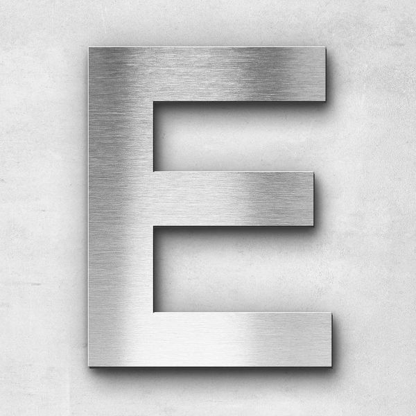 Metal letter E - Series Arial