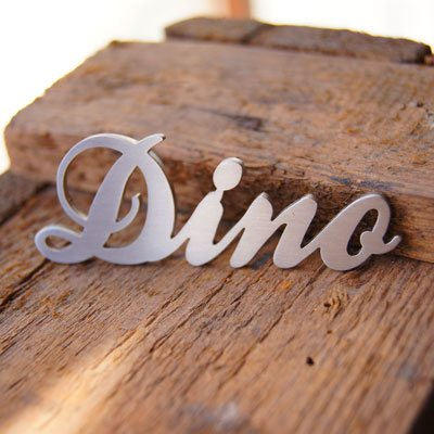 Signostar - lettering stainless steel - dino