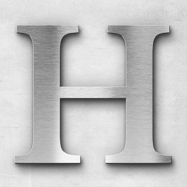 Metal Letter H Uppercase - Serif Series