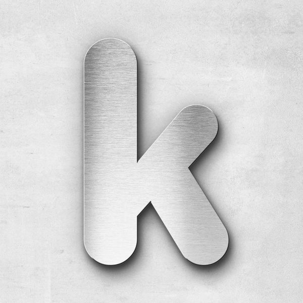 Metal Letter k Lowercase - Classic Series