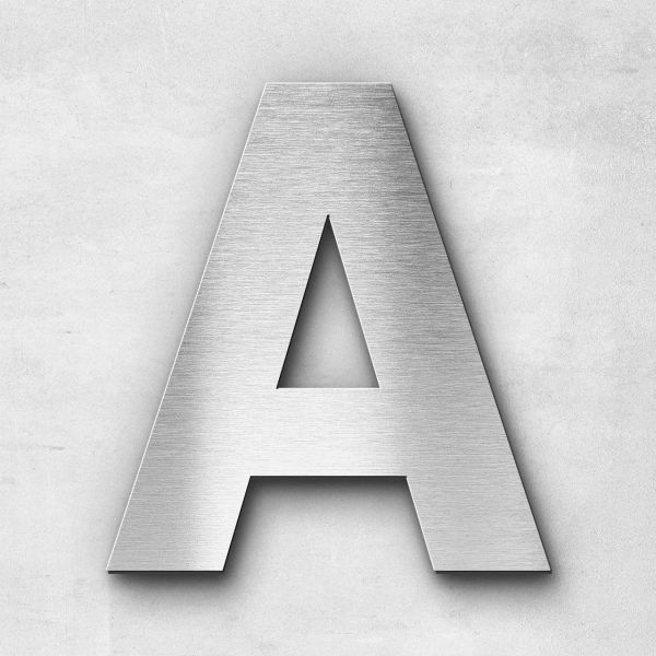 Metal Letter A Uppercase - Sans Series