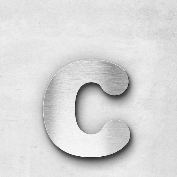 Metal Letter c Lowercase - Classic Series