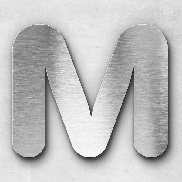 Metal Letter M Uppercase - Classic Series