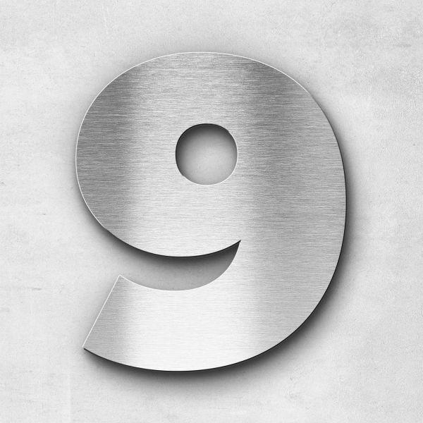 House Number 9 Stainless Steel Kontrast Series