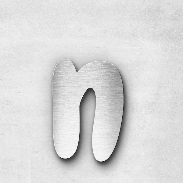Metal Letter n Lowercase - Darius Series