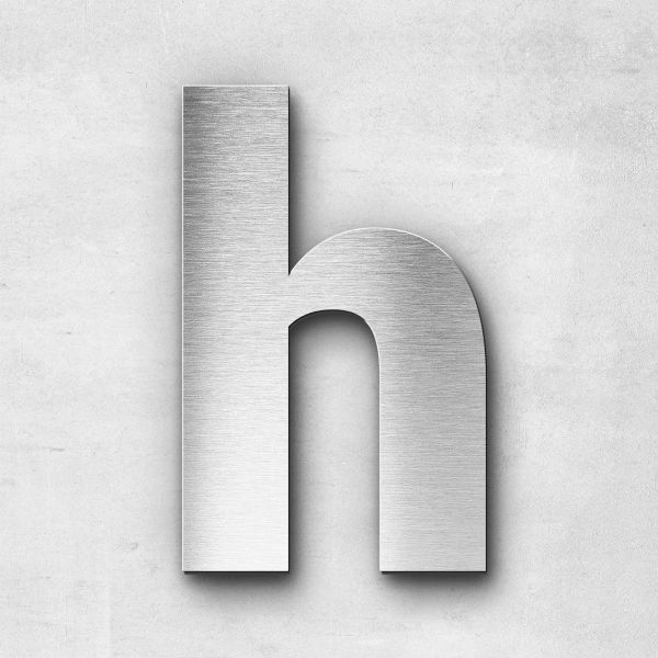 Metal Letter h Lowercase - Sans Series
