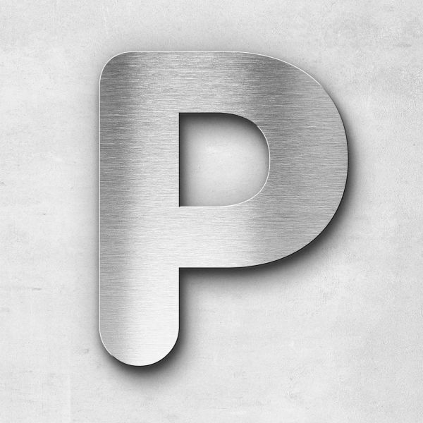 Metal Letter P Uppercase - Classic Series