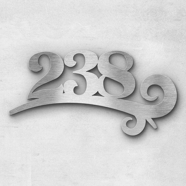 House number - Series Design triple-digit