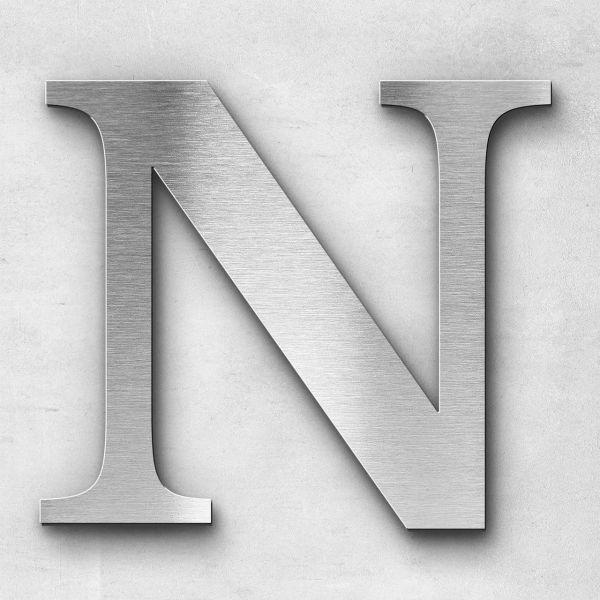 Metal Letter N Uppercase - Serif Series